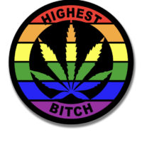 STICKER: HIGHEST BITCH • RAINBOW