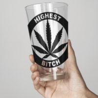 PINT GLASS: HIGHEST BITCH • LOGO