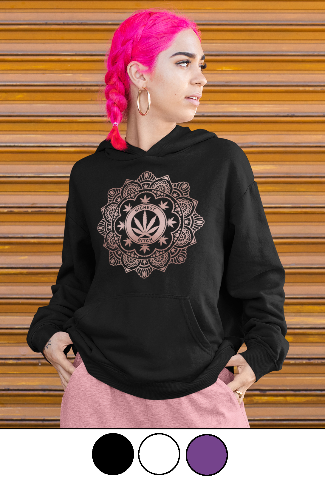 highest bitch_just get high_fashion hoodie_henna