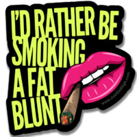 STICKER: I'D RATHER BE...
