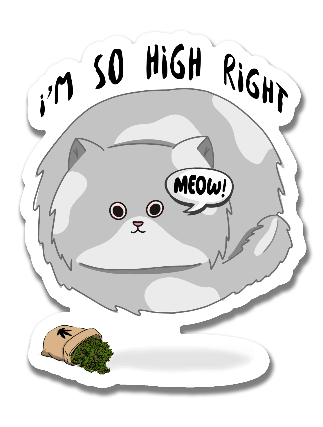 just get high_ stickers_im so high_cat