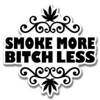 STICKER: SMOKE MORE • FILIGREE