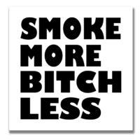STICKER: SMOKE MORE • BOLD BLACK FONT