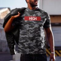 T-SHIRT: JUST GET HIGH™ • RED BAR