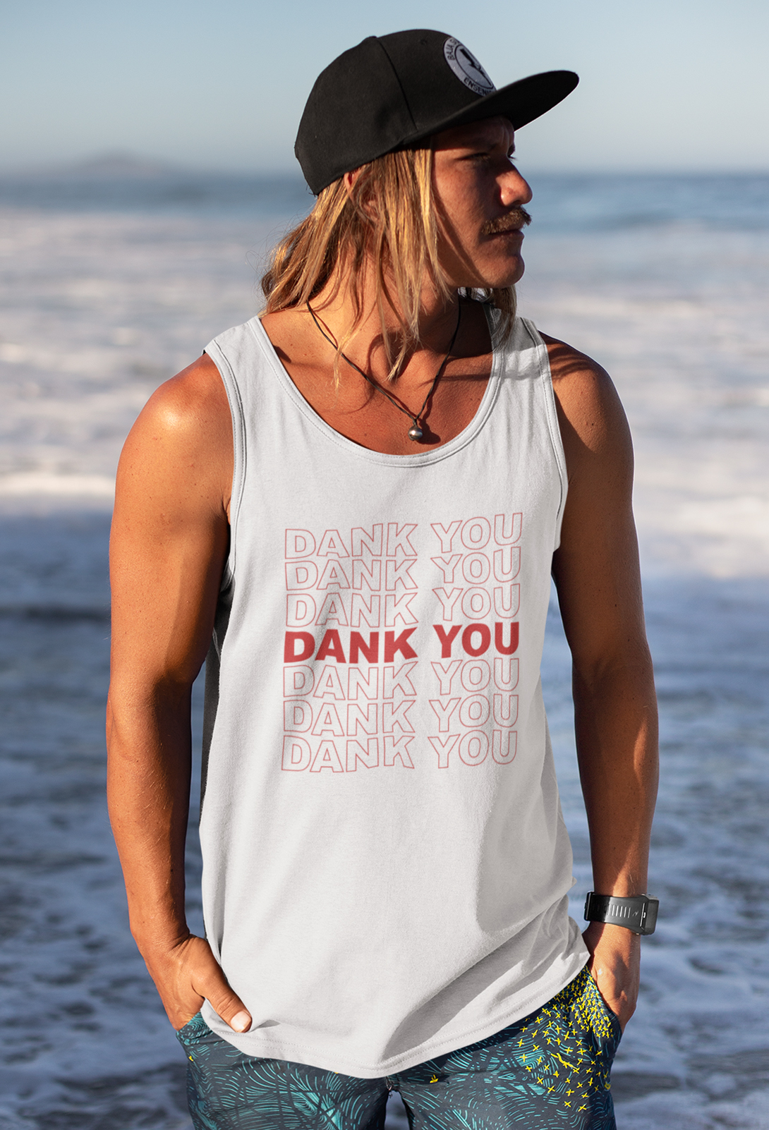 just get high_athletic tank_dank you