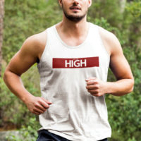 ATHLETIC TANK: JUST GET HIGH™ • RED BAR