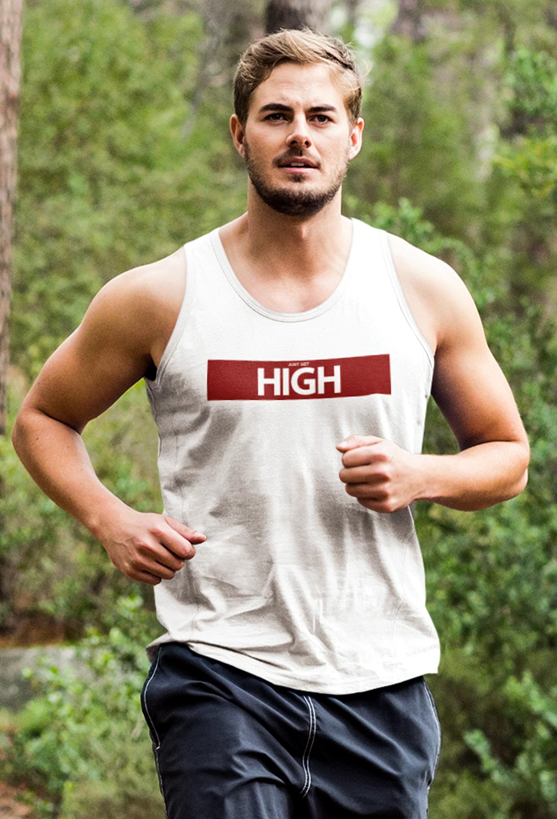 just get high_athletic tank_red baar