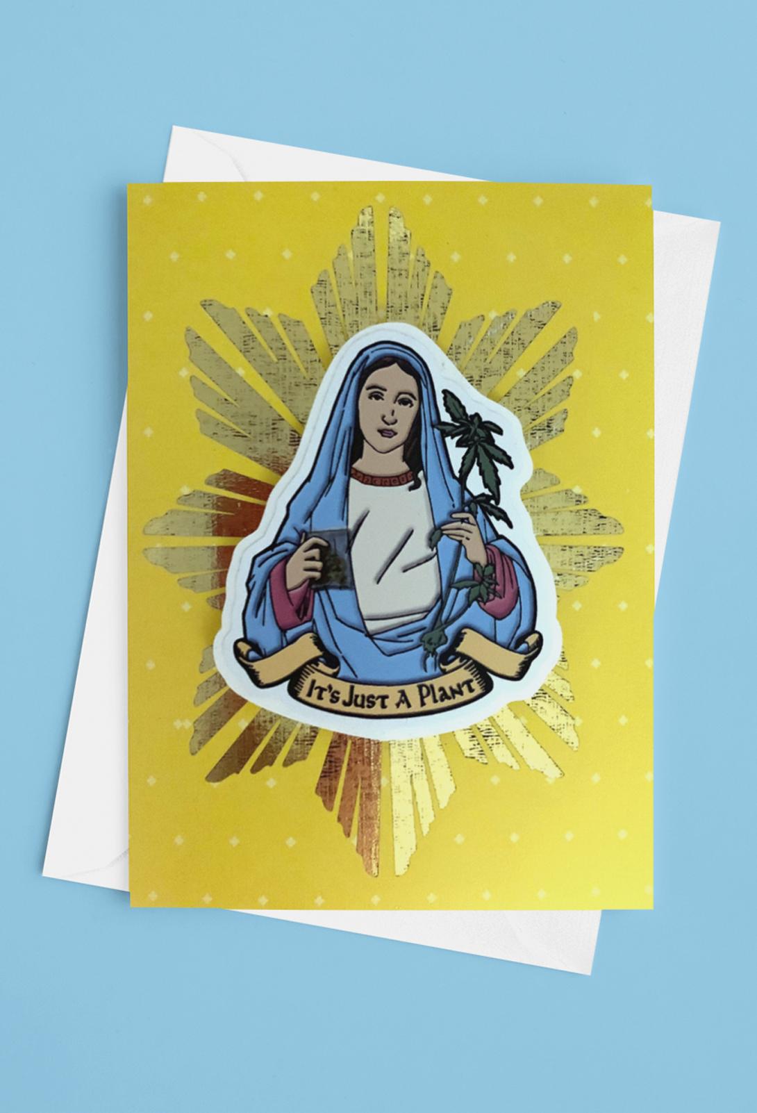 just get high_sticker card_maryjane_new