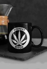 just get high_coffee mug_highest bitch logo