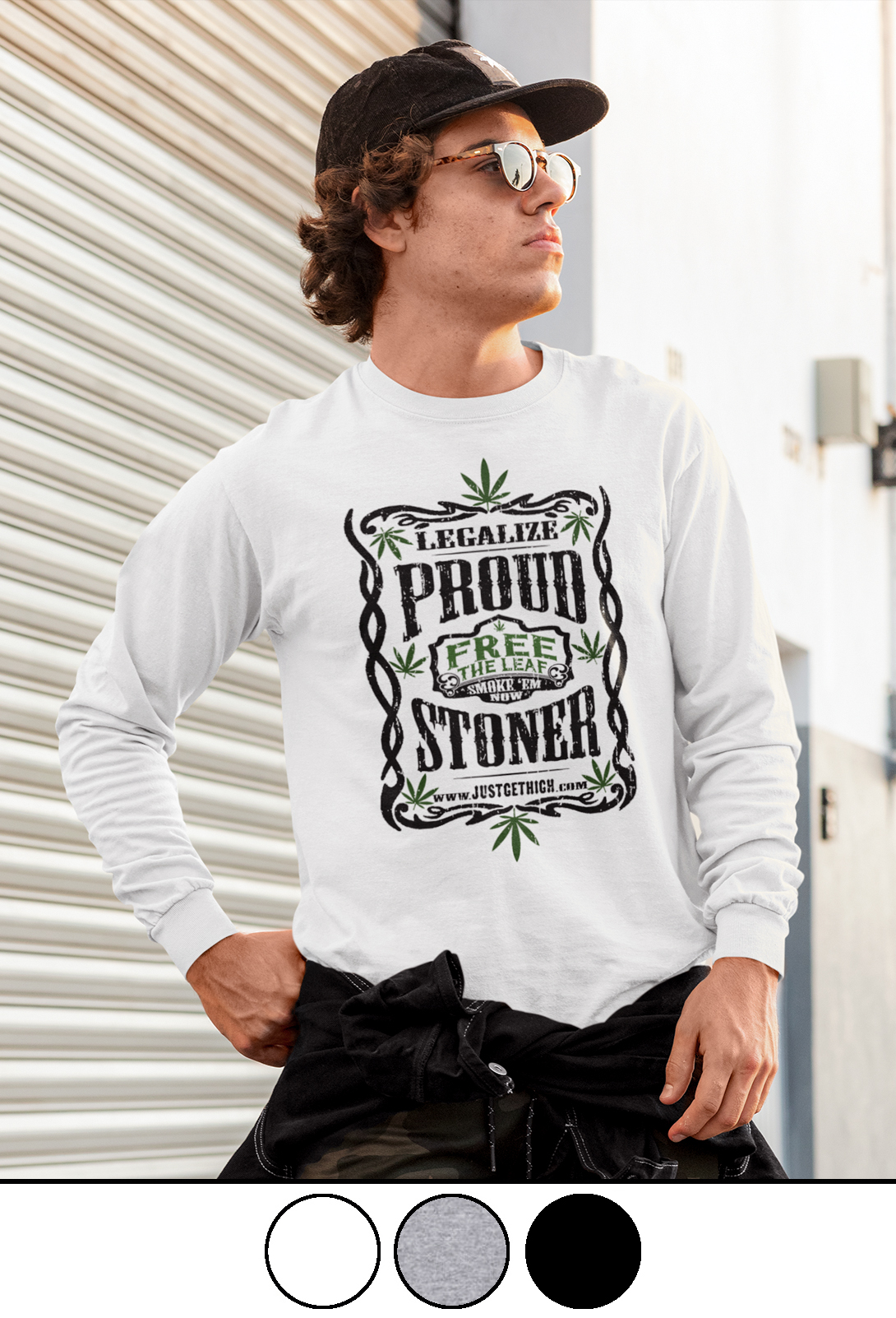 proud stoner_long sleeve shirt_model